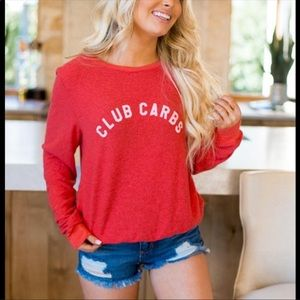 Wildfox Club Carbs sweatshirt NWT size S